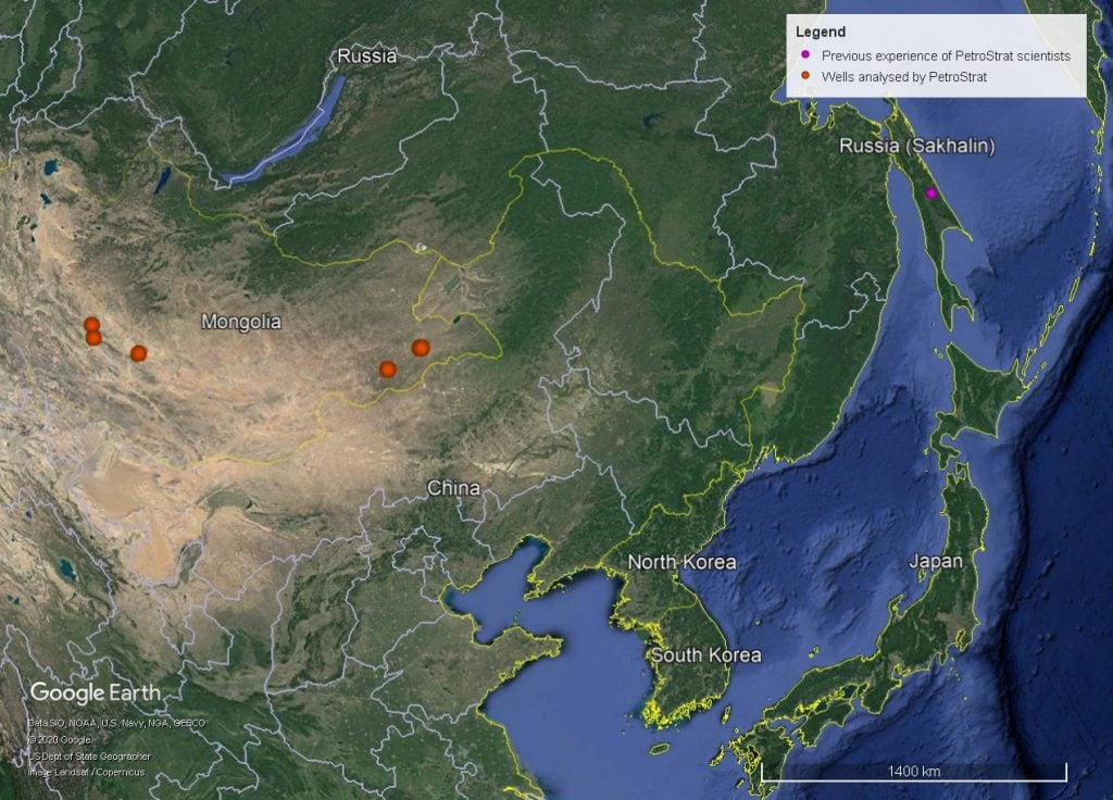 Petrostrat Asia Pacific Region Experience Well Map Mongolia East Asia