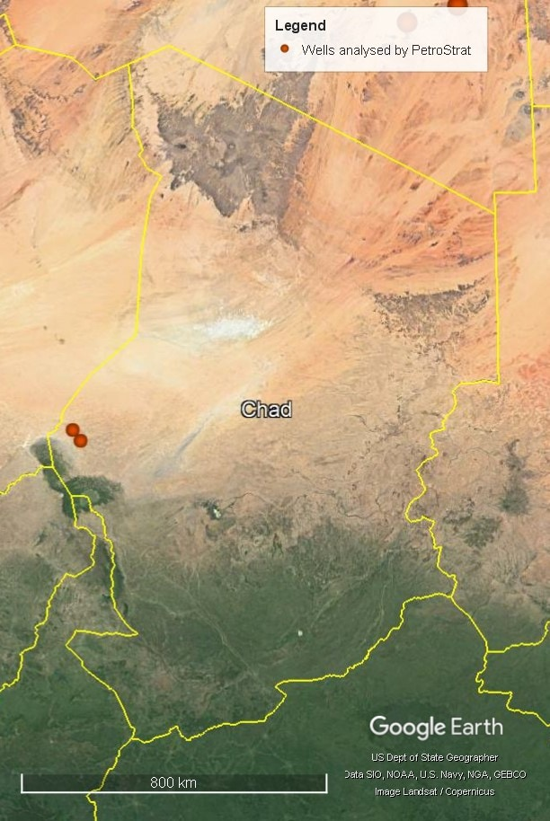 Petrostrat West Africa Global Biostratigraphy Experience Well Map Chad
